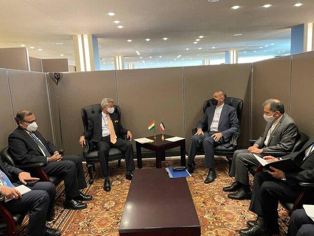 دیدار امیر عبداللهیان با وزیر خارجه هند