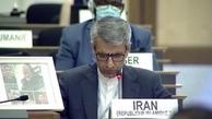 قاب عکس سردار شهید در شورای حقوق بشر سازمان ملل+عکس