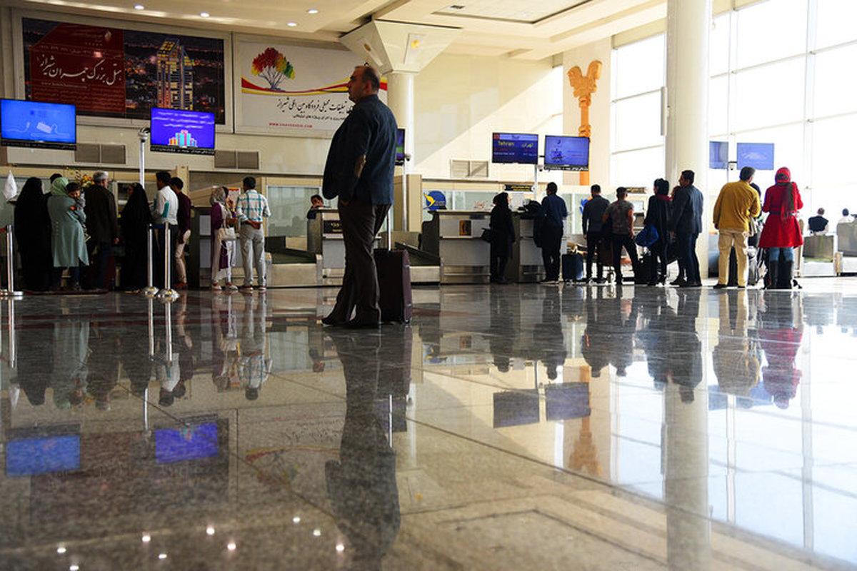 جابجایی مسافران ایرانی در پروازهای بینالمللی96 درصد کاهش یافته است.