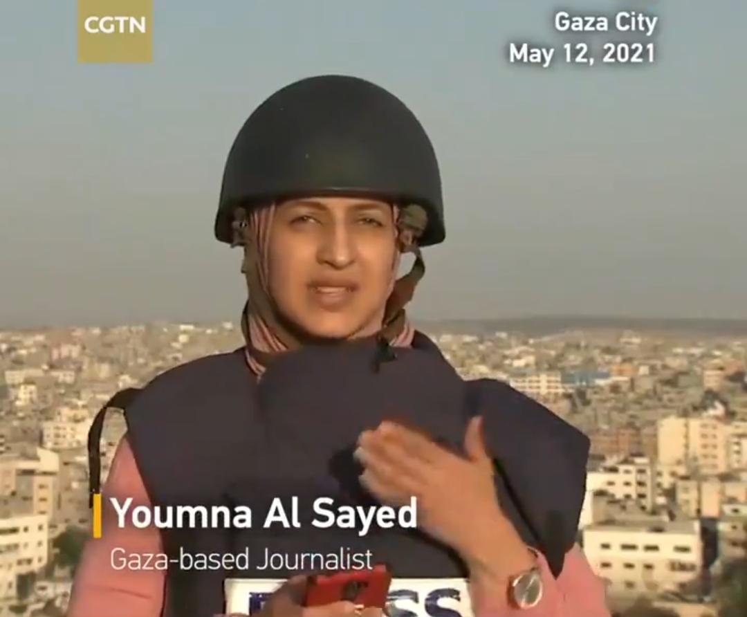حمله به یک برج در غزه هنگام گزارش زنده خبرنگار الجزیره + ویدئو