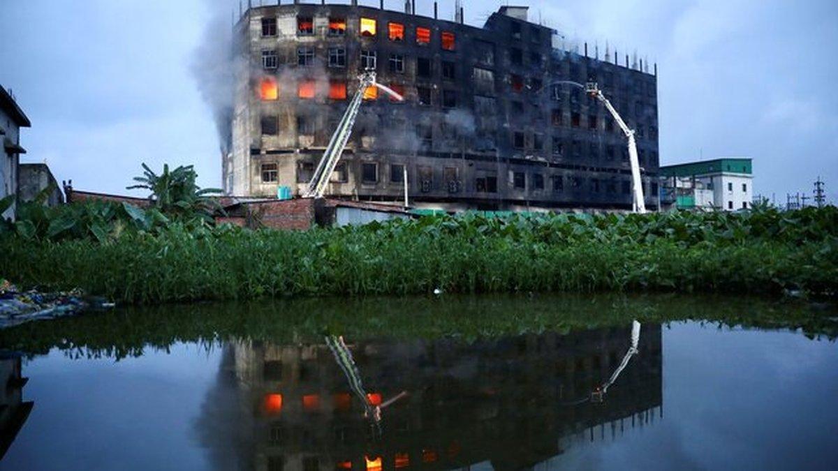 افزایش شمار قربانیان حریق کارخانه تولید مواد غذایی در بنگلادش