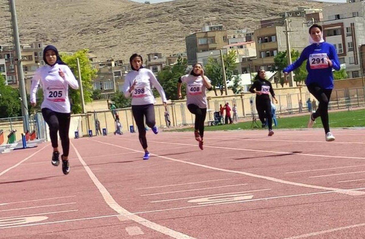 قهرمانی خراسان رضوی در رقابتهای دوومیدانی نوجوانان دختر کشور