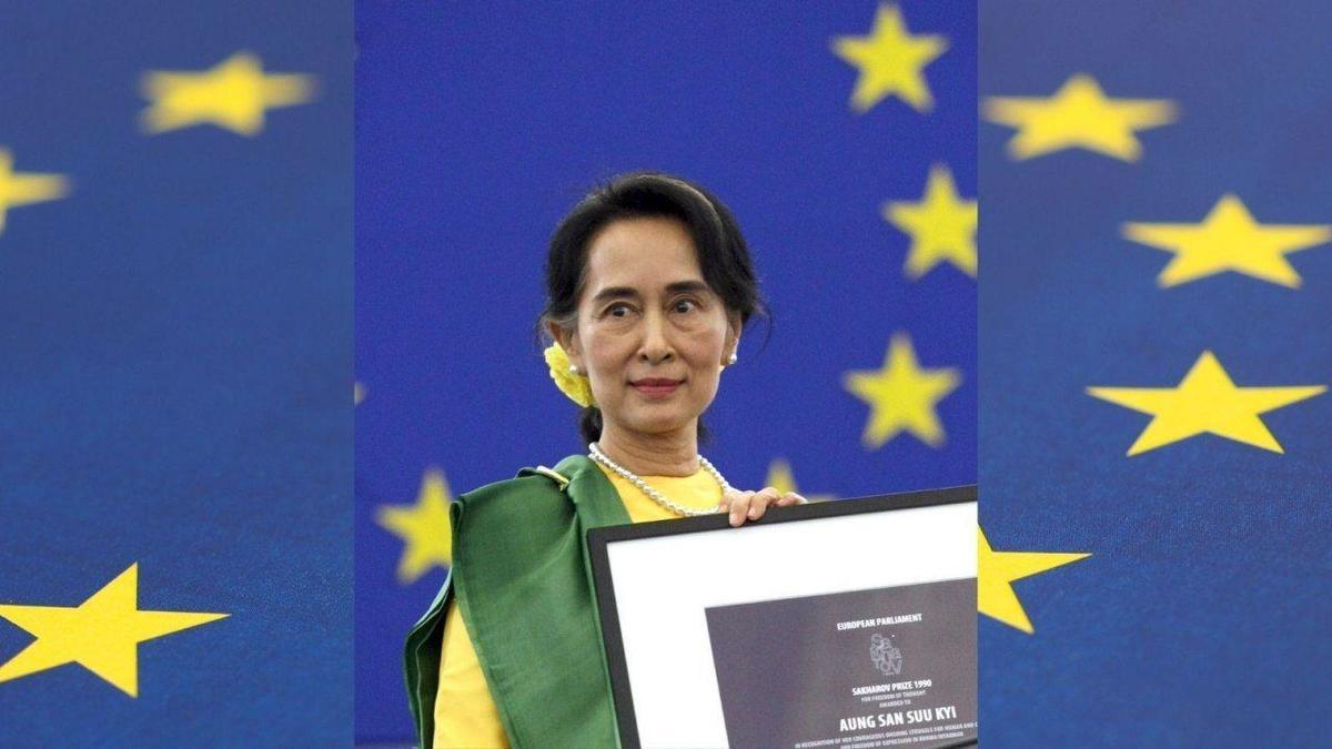 نام آنگ سان سو چی را  پارلمان اروپا از گروه برندگان جایزه ساخاروف حذف کرد
