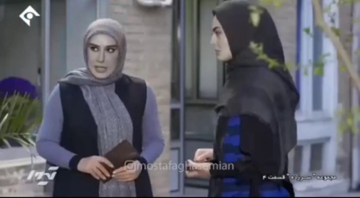 تکنیک جدید صدا و سیما : سیاه و سفید کردن چهره هنرپیشه های زن + ویدئو