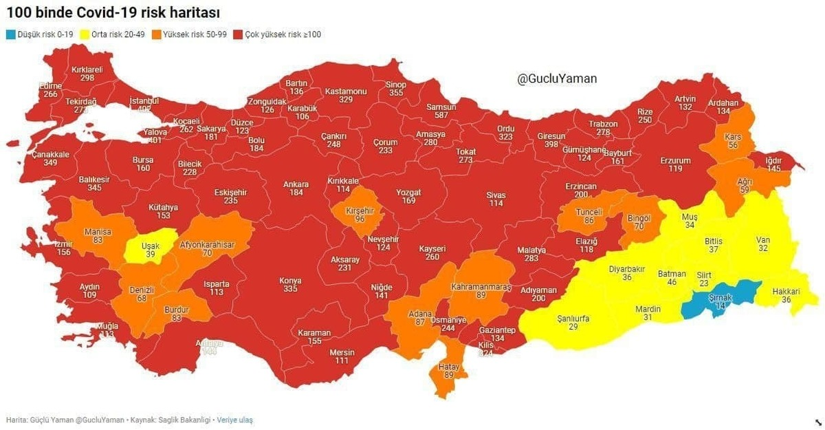 کرونای انگلیسی، ترکیه را در وضعیت قرمز قرار داد